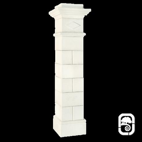Pilier Saintonge 40 blanc en pierre reconstituée - H 236cm