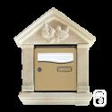 Encadrement pour boîte aux lettres aux oiseaux en pierre reconstituée ton blanc (4 éléments)