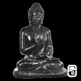 Statue Bouddha assis noir - H 80cm